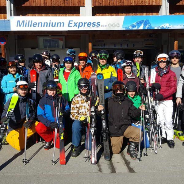 Skikurs Gruppe
